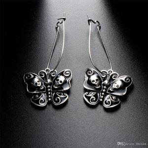One Size Elegante Retro Punk Gothic Modeschmuck Schmetterling Schädel Baumeln keine stein Ohrringe Für Frauen