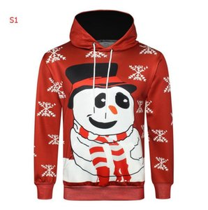 Winter Mens Designer Hoodies with Christmas Patterns 3D Digital Printing New Brand Hoodies For Men Streetwear 4 Styles Size M-3XL