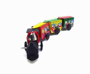 NB desenhos animados Tinplate Wind-up Toy, Clockwork trenzinho, Puddle Jumper, ornamento nostálgico, Kid presente Xmas aniversário, Adulto coletar, MS203 2-1