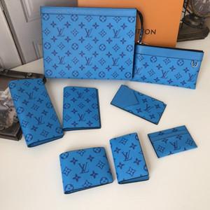 Nuovo 2020 Uomini Portafogli Designer Genuine Leather Wallet Mens titolari borsa corto Con moneta tasca di carta di trasporto con la scatola