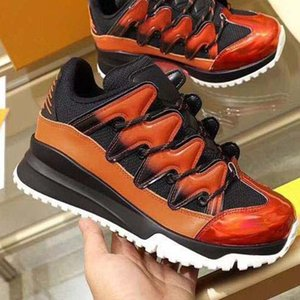 Classic Designer Sneakers Mens Fashion Designer Shoes Womens Patent Leather Lace up Shoes platform Outdoor Walking Flat Casual Sneakers PA8
