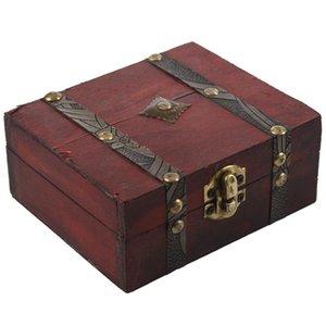 Топ-Wooden Vintage Замок Сундук для хранения ювелирных изделий Box Дело Организатор Кольцо подарки