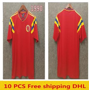 Colombia 1990 Retro soccer jersey red classic commemorate antique #10 Valderrama #9 Guerrero Collection vintage football shirt Camiseta