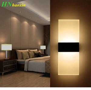 HaoXin Modern - Lámpara de pared de acrílico para interiores, 85-265V, lámpara de pared LED montada en la pared, 3W / 6W, blanco cálido, blanco frío, para escaleras de pasillo de dormitorio