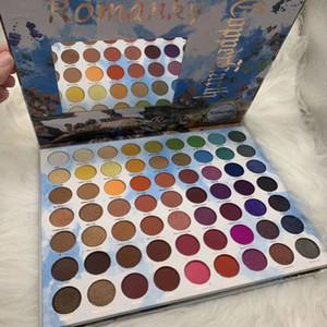Yüksek kaliteli Romanky 63 Renk göz farı paleti Göz Makyajı Su Işık Yeni Moda Güzellik Glitter Makyaj Mat Göz farı Paleti Ücretsiz gemi