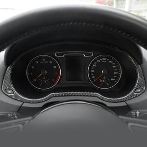 탄소 섬유 자동 속도계 장식 프레임 아우디 Q3 2013-2018 인테리어 액세서리 트림 대시 보드 주행 거리 표지 스티커