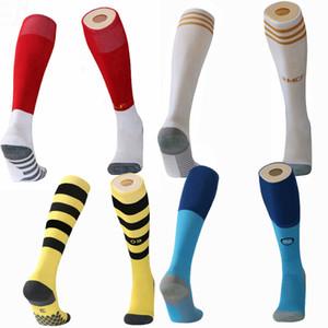 2019 2020 Real Madrid Bayern marseille napoli ajax Manchester M.SALAH messi soccer adult Kids Socks Knee High Thick football Sports Socks