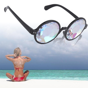 2017 Fashion Retro Round Kaleidoscope Sunglasses Men Women Eyewear Kaleidoscope lens Glasses