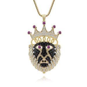 Мода Личность Благородный Темперамент Ожерелье Золотой Цвет Король Обезьян Корона Медь Циркон Годовщина Свадьбы Ювелирные Изделия