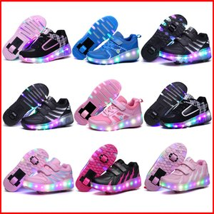 New Children LED Roller Skate Shoes With One Two Wheels Lights Up Glowing Jazzy Junior Kids Shoes Adult Boys Girls Sneakers
