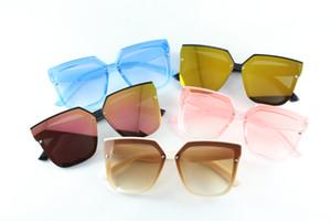 Rimless Sonnenbrille große Sonnenbrillen Luxus Gradient Shades Kinder Sunglass Jungen Mädchen Kinder hochwertige Brillen 3113