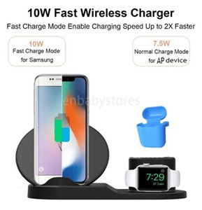 E 1 3 10w In Fast Wireless Charger Dock Station Fast Charging Stand For Phone X Xr Xs Max Watch Ear Pods And Samsung S10plus