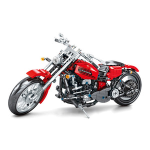 Motorcycle Building Blocks Bricks Speed Champions City Motorbike Fit Autocycle ORV Vehicles Toys Gifts For Children