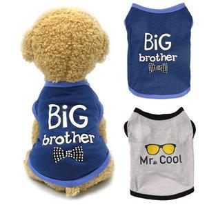 Pet Dog Clothes For Small Dogs BIG Brother Letter Shirt Painting Polar Puppy Coat Pets Cat Warm Clothes Autumn Winter Pet Coatt