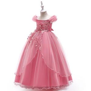 2019 crianças roupas Kinder vestido de noiva Absatz Schulter Prinzessin Vestido de noiva Kleine Fee Blume Vestido de noiva Geschwollene Kleid