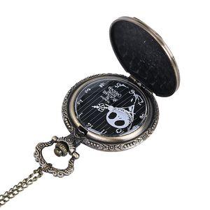 나이트 메어 전에 크리스마스 여성 남성 포켓 시계 잭 Skellington 해골 해골 레트로 석영 주머니 시계 FOB 체인 선물 2019