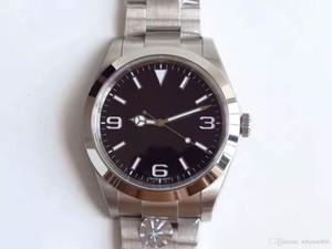 TOP Haute Qualité Watch GMT Explorateur 39mm 2836 Mouvement mécanique automatique cadran noir Watch Date Montres Hommes Homme