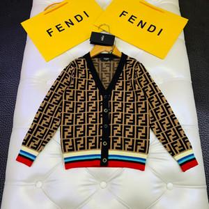 Мальчик свитер дети дизайнер одежды осень и зима V-образный вырез кардиган свитер классической плоского вязание машина нить дизайн кардиган