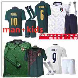 Kids kit and Adult Italy Home Jersey 2019 2020 De Rossi Bonucci Verratti Chiellini INSIGNE Belotti Jerseys 2019 Italy Football Uniform