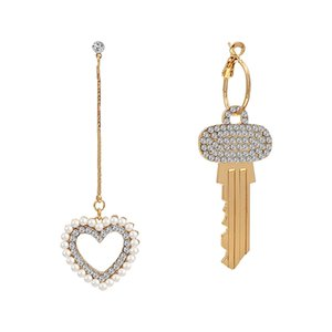 Love Key Asymmetric Earrings Female Niche Temperament Earrings 2019 New Fashion Wild Earrings CX200707