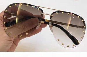 Mulheres De Luxo Homens De Óculos De Sol Com Óculos De Sol Com Óculos De Sol Castanhos de Ouro Grandes Óculos De Sol Da Festa Óculos De Sol novos com caixa