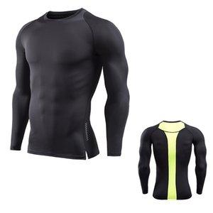 hommes Fitness Course à pied Running Wear Maillots Muscleguys Bodybuilding Printemps Automne Nouveau manches longues Gym