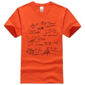 T-shirt 2019 été Mathematical Formula T-shirts pour hommes t-shirts The Big Bang Theory hommes sportwear marque-vêtements top t-shirts en coton