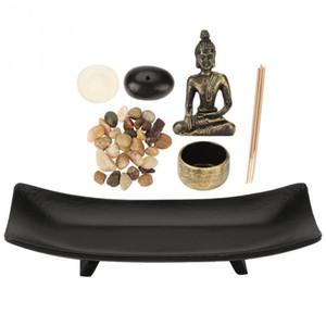 1 jeu Zen Zen Garden Relax Bouddhisme Candlestick Porte Encens Ameublement Articles Incense pour Décoration Cadeau T200319