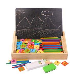 Количество Counting Math Игрушка Graffiti Раннего Обучение Box для детского сада Дети Детского счетной палочки цифровой операция Doodle игрушки