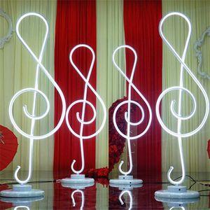 110 centímetros de altura Nota Musical forma de casamento Colunas romanas levou luz estrada até casamento chumbo palco central do partido decoração do evento