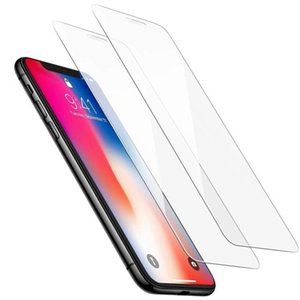 Glass For iPhone XS XR واقي شاشة مقاوم للصدمات 9H For iPhone 8 X 7 6 6S Plus Film