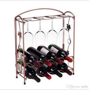 Desmontable estante del vino europeo de hierro forjado del vino rojo Copa de cristal titular de utensilios de cocina Comedor Bar accesorios de bricolaje Organización Bastidores de vino de mesa