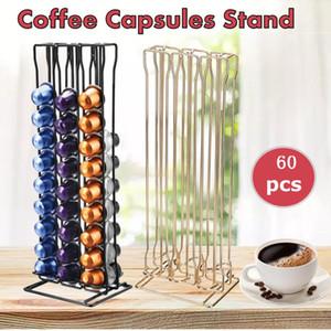60 Coupes Dosettes Porte Capsules Coffee Station Support Présentoir Café Capsule Support de rangement pour les fournitures Nespresso Capsule