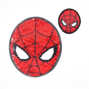 Rote und blaue spiderman AB Gesicht Sewing Notions Werkzeuge Flip Pailletten Tuch Aufkleber modische Kleidung der Kinder Mantel DIY Patch patc bestickt