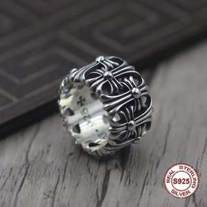 Anello da uomo in argento puro S925 Personalità per restaurare i modi antichi L'anello per Forever Do vecchio regalo esclusivo di coppie uniche per te