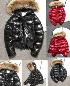 Winter Daunenjacke Frauen des neue Art großes loses Lackleder helle Daunenjacke weiblicher kurzer Mantel