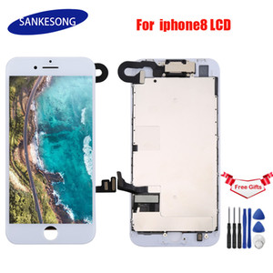 LCD Display Full Assembly For iPhone 8 8G 4.7 inch Touch Screen with Digitizer Bezel Frame++Front Camera Full Assembly