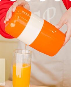 Новые Бытовые Ручные Цитрусовые Соковыжималка для Апельсина Лимон Фруктовая Соковыжималка 100% Оригинальный Сок Детский Здоровый образ жизни Питьевая Соковыжималка Машина
