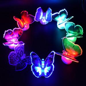 Светодиодный свет бабочка света из светодиодов Night Light Детские Детская Комната стикер стены Свет Лампы Для Партии подарки Сувениры