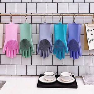 Magic Silica Gloves Haushalts-Küchen-Reinigungs-Handschuh-Spülartefakte Wasserdichte und rutschfeste Multifunktionshandschuhe Freies Verschiffen