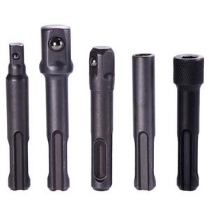 """Aneng 3Pcs SDS Plus Socket Driver Bohrer Drill Bit 1/4"""" 3/8"""" 1/2"""" Socket-Adapter + 2Pcs 1/4"""" Hex Bit-Halter # 281042"""