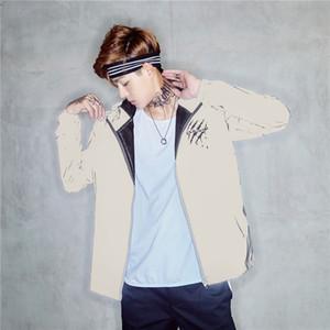 Erkek Tasarımcı 3M Yansıtıcı Ceket Moda Çizilmeye Baskı Kasetli Mens 3M Yansıtıcı Ceket Casual Erkek Giyim Soğuk