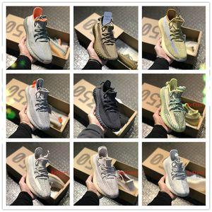 2020 Eva-boosts Kanye West V2 Yecheil Yeezreel Black Static Desert Sage Cinder 350 Earth Reflective Lundmark shoes B012