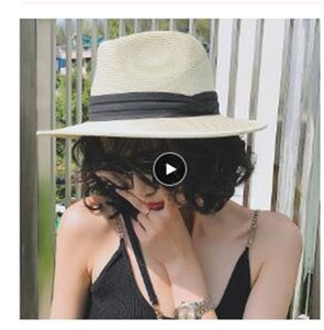 2020 Summer unisex sun hat casual vacation Panama straw hat women wide brim Beach jazz men hats Foldable Chapeau