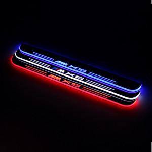 Para BMW X5 E53 E70 F15 G05 acrílico a prueba de agua en movimiento LED pedal agradable de coches placa del desgaste del travesaño de la puerta del pedal Camino Luz