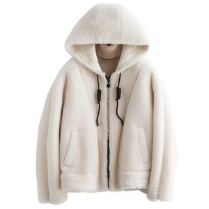 2020 New 2019 Sheep Sharing Overcoat Woman Even Cape A Clear Lamb Fur Grass Loose Coat