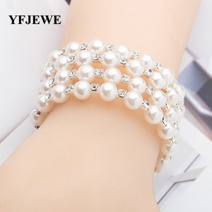 Braccialetto della perla naturale genuino Più Circle Crystal Jade Multipiano mano String neve ornamenti del braccialetto del partito Trendy Dichiarazione Bangle