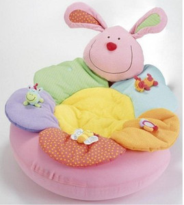 1PCS- اللون الأزرق المزهرة مزرعة الجلوس عني طفل دافئ تلعب حصيرة عش الرضع مقعد قابل للنفخ لعبة أريكة كيد