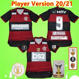 Player versione 2020 2021 Flamengo Maglia Patama GUERRERO DIEGO Vinicio JR maglie calcio Goleiro Flamengo Flamenco 20 21 GABRIEL B. uomo shi