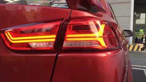 Styling carro para Mitsubishi Lancer lanternas traseiras LED 2008 ~ 2015 acessórios do carro Lancer Lamp Eclipse, verada, Triton, luz traseira